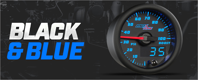 Black & Blue MaxTow Double Vision Gauge Series