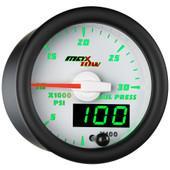 White MaxTow Double Vision 30,000 PSI Fuel Rail Pressure Gauge