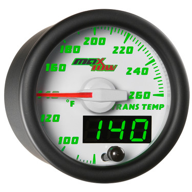 White MaxTow Double Vision Transmission Temperature Gauge