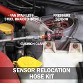 Sensor Relocation Hose Kit Installed