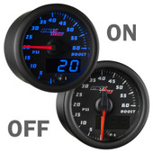 Blue MaxTow 60 PSI Boost Gauge On/Off