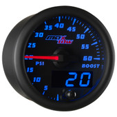 Blue MaxTow 60 PSI Diesel Boost Gauge