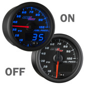 Black and Blue MaxTow 100PSI Fuel Pressure Gauge On/Off
