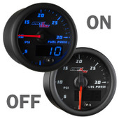 Black and Blue 30PSI Fuel Pressure Gauge On/Off