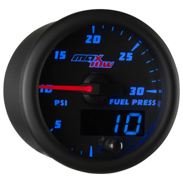 Blue MaxTow 30 PSI Fuel Pressure Gauge