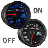 Black & Blue MaxTow Double Vision Oil Temperature On & Off