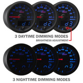 Black and Blue MaxTow Daytime and Nighttime Dimming Modes