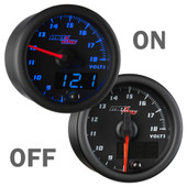 Black and Blue MaxTow Double Vision Voltmeter