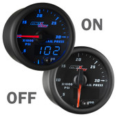 Black and Blue MaxTow Rail PSI Gauge On/Off