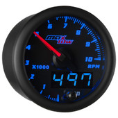 Blue MaxTow Double Vision Tachometer Gauge