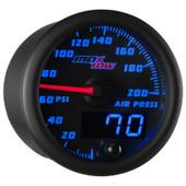 Blue MaxTow Double Vision Air Pressure Gauge