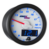 White & Blue MaxTow Double Vision Volt Gauge