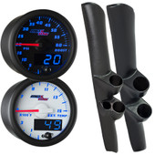 98-02 Dodge Ram Cummins Full Size Dual Blue MaxTow Custom Gauge Package