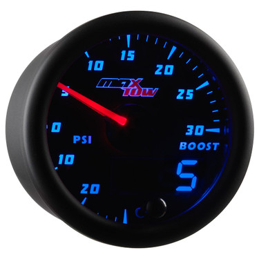 Black & Blue MaxTow Boost/Vacuum Gauge