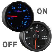 Black & Blue MaxTow 35 PSI Boost Gauge On/Off