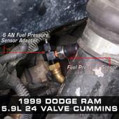 -6 AN Fitting Installed to 1999 Dodge Ram 5.9L 24 Valve Cummins
