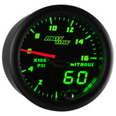 Black & Green MaxTow Double Vision 1,600 PSI Nitrous Pressure Gauge