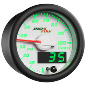 White MaxTow Double Vision 100 PSI Diesel Boost Gauge