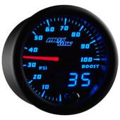 Blue MaxTow 100 PSI Diesel Boost Gauge