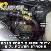 Big Line Kit Installed to 2015 Ford Super Duty 6.7L Power Stroke
