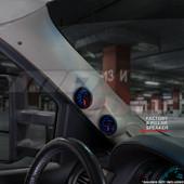 2007-2013 Chevy Silverado Tan Full Size Dual Pillar Pod Installed Angled