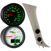 2007-2013 Chevrolet Silverado Duramax Full Size Dual Green MaxTow Custom Gauge Package Thumb