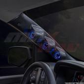 2014-2018 Chevy Silverado Duramax Triple Pillar Pod Installed Angled View