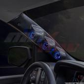 2014-2018 GMC Sierra Duramax Triple Pillar Pod Installed Angled View