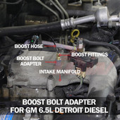 Boost Bolt Thread Adapter for GM 6.5L Turbo Detroit Diesel Installed