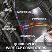 6pc Quick-Tap Wire Splice Connectors  Installed