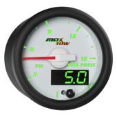 White MaxTow Double Vision 15 PSI Fuel Pressure Gauge