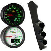 Green MaxTow Triple Gauge Package for 1997-2002 Ford F-150