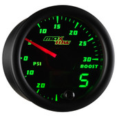 Black MaxTow Double Vision Boost / Vacuum Gauge
