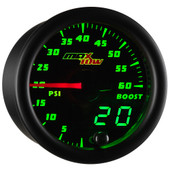 Black MaxTow Double Vision 60 PSI Diesel Boost Gauge