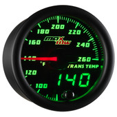 Black MaxTow Double Vision Transmission Temperature Gauge