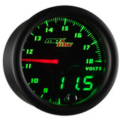 Black MaxTow Double Vision Volt Gauge