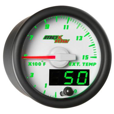 White MaxTow Double Vision 1500 F Pyrometer / EGT Gauge