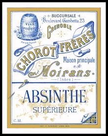 Chorot Freres Absinthe Distillery Label Print