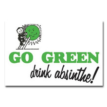 Go Green, Drink Absinthe Sticker
