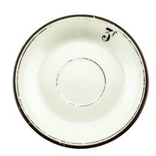 Antique Absinthe Saucer/Coaster, Green Rim 3f