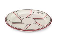 B-Stock - Porcelain Absinthe Saucer, 75 Cts, Cranberry/Silver, with Lines
