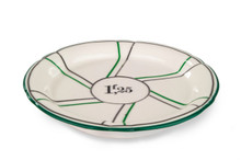 B-Stock - Porcelain Absinthe Coaster/Saucer, 1f25, Green/Silver, with Lines