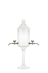 Glass Absinthe Fountain with Metal Spouts, 2 Spout