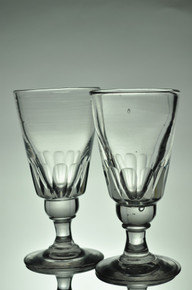 Pair of Antique Absinthe Glasses