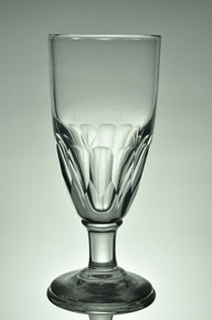 Antique Oeuf Absinthe Glass with Panel Cuts
