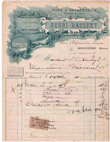 Henri Rassent Invoice