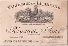 Distillerie Royanet Aine Business Card