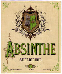Antique Absinthe Superieure Bottle Label