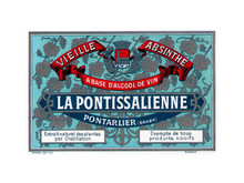 Antique La Pontissalienne Mignonnette Absinthe Bottle Label