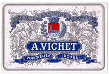 Antique Vichet Absinthe Bottle Label